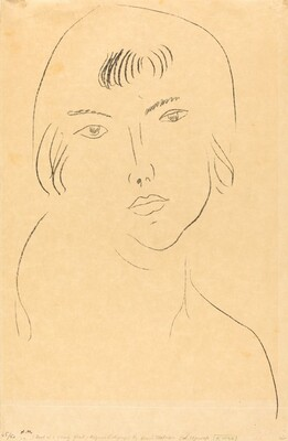 Face with Fringe (Visage à la frange)