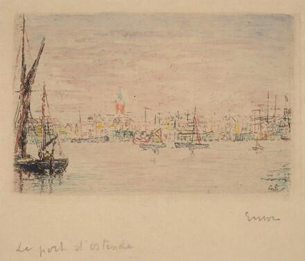 The Port of Ostend (Vue du port d'Ostende)