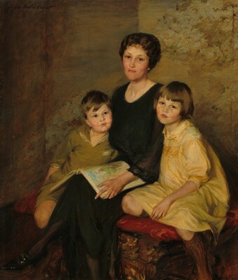 Harriet Lancashire White (Mrs. Edward Laurence White) and Her Children, Sarah and Laurence