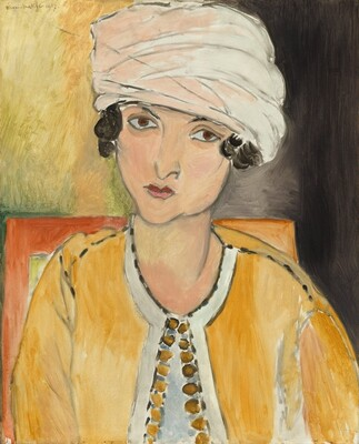Lorette with Turban, Yellow Jacket