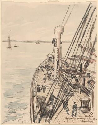The Aquatania Entering Southampton