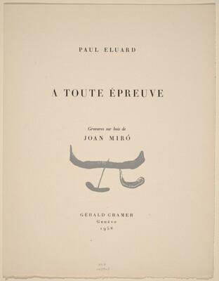 Paul Eluard's A Toute Epreuve