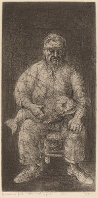 Man with a Fish (Portrait of Ben Shahn)