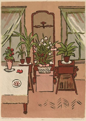 Interior with Green Plants