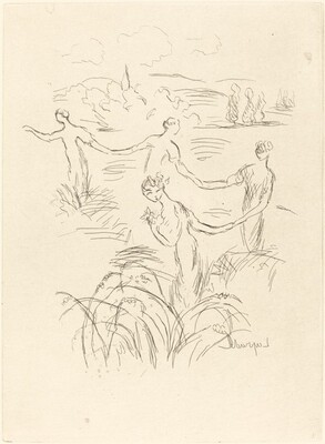 Four Figures in a Landscape