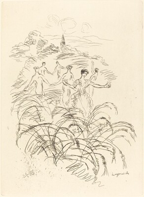 Six Figures in a Landscape