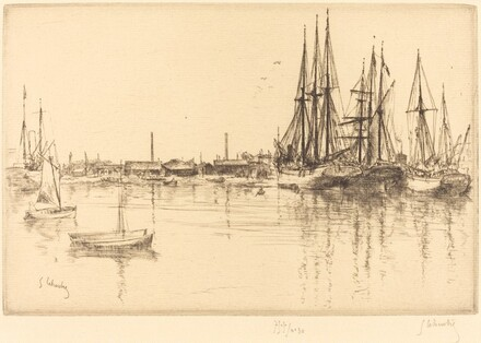 Sailing Ships in the Bassin Neuf at La Rochelle (Les Voiliers du Bassin Neuf, a La Rochelle)