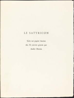 Engraved Suite from T. Petronius Arbiter's Le Satyricon