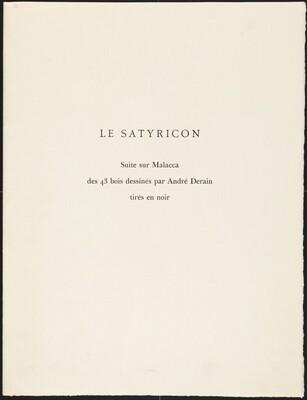 Woodcut Suite from T. Petronius Arbiter's  Le Satyricon