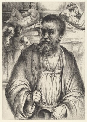 Michelangelo before the Medici Tombs