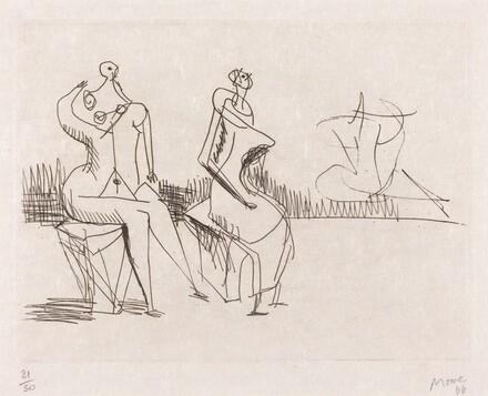Two Seated Figures II