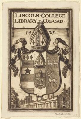Bookplate of Lincoln College, Oxford