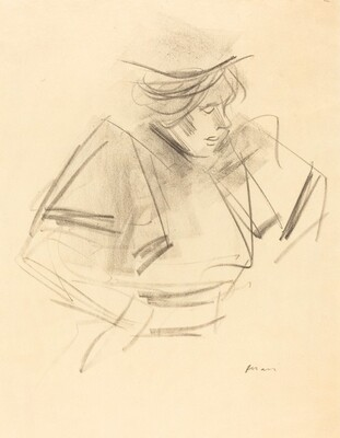 Sketch of a Woman in Half-Length