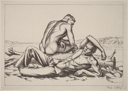 Two Boys on a Beach #2