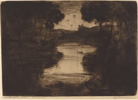 A Lowland River: A Dry-Point