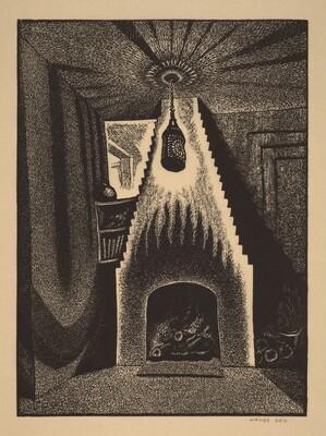Lantern and Fireplace