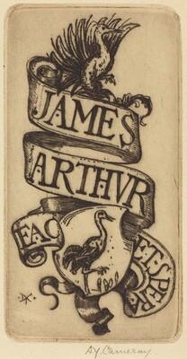 Bookplate of James Arthur