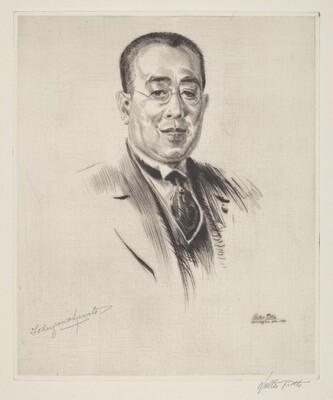 Prince Tokugawa, President of the House of Peers, Japan