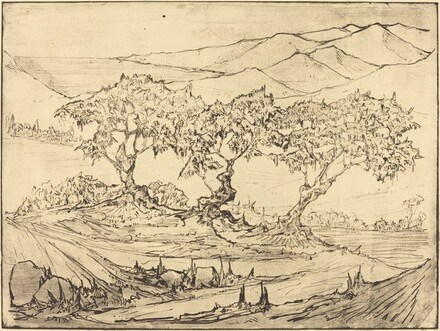 Landscape with Three Olive Trees