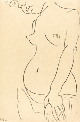 Nude in Three-Quarters with Part of Her Head Cropped Off (Nu de trois-quarts, une partie de la tête coupée)
