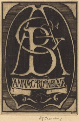 Bookplate of Anna Gordon Blair