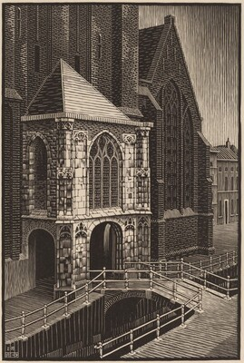Entrance to the Oude Kerk
