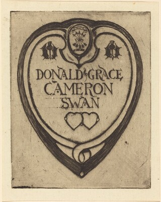 Bookplate of Donald Grace (Cameron Swan)