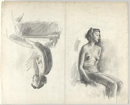 Two Figure Studies [verso]