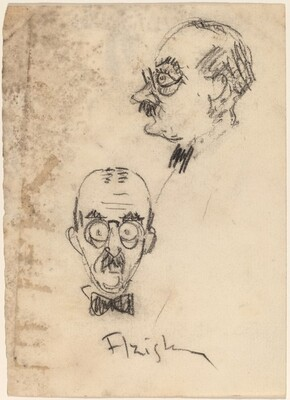 Caricature of a Man (Azish?, front and profile views)