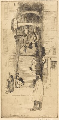 A Stairway in Genoa