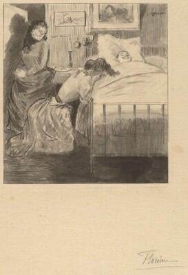 Woman Weeping in a Sick Room