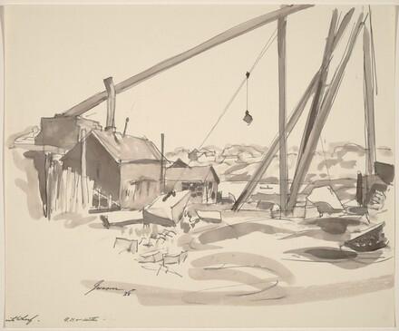 Wharf and Crane