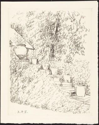 Garden of Bagatelle (Best Wishes for 1969 from La Galerie Sagot-Le Garrec)