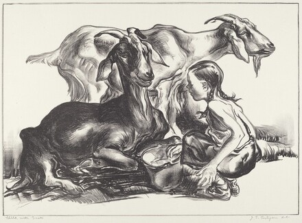 Child with Goats