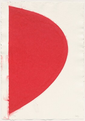 Colored Paper Image IV (Red Curve)