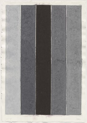 Colored Paper Image IX  (Four Grays with Black I)