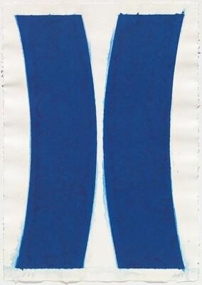 Colored Paper Image V (Blue Curves)