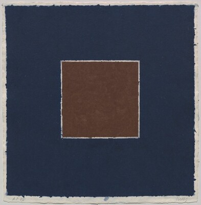 Colored Paper Image XX (Brown Square with Blue)
