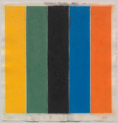Colored Paper Image XIII (Yellow/Green/Black/Blue/Orange)