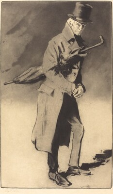 Lerand in the Role of Rodin in The Wandering Jew