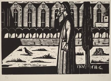 Dante in the Cloister of Santa Croce (Dante nei chiostri de Santa Croce)