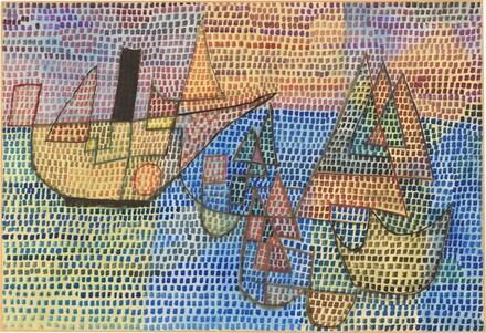 Dampfer und Segelbōte (Dredger and Sailboat)