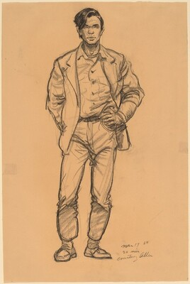 Indian Standing with Hand on Hip
