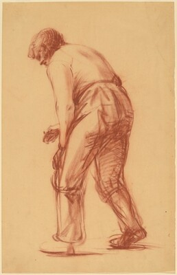 Male Figure, Bending Forward