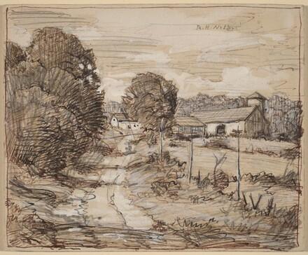 Farm Buildings [recto]