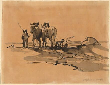 Ploughman and Horses