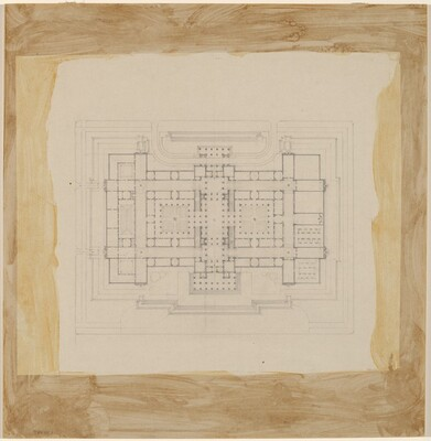 Early Plan Study: Before the Site Had Been Chosen