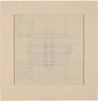 Early Plan: Study for Site on Axis of the White House