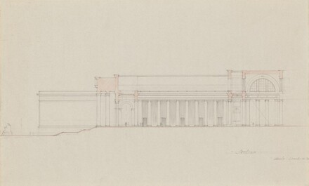 Early Section Study for Site on Axis of the White House