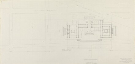 Plan of Scheme C: Axis on 4 1/2 Street